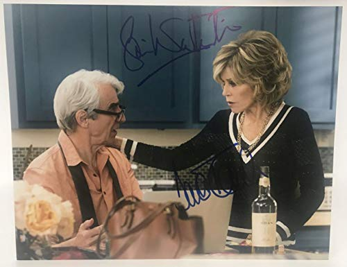 Jane Fonda & Sam Waterston Signed Autographed 'Grace & Frankie' Glossy 11x14 Photo - COA Matching Holograms