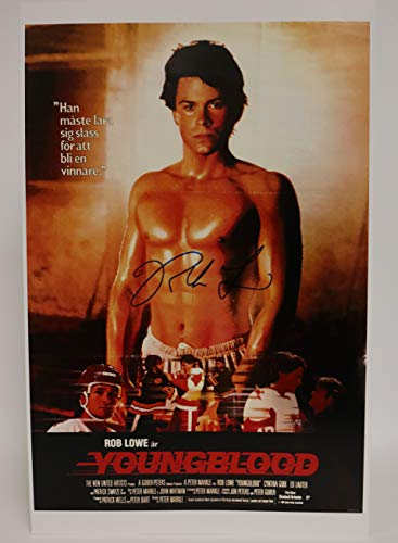 Rob Lowe Signed Autographed 'Youngblood' Glossy 11x17 Movie Poster - COA Matching Holograms