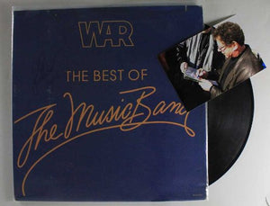"Lee Oskar of War Signed Autographed ""The Best of The Music Band"" Record Album"