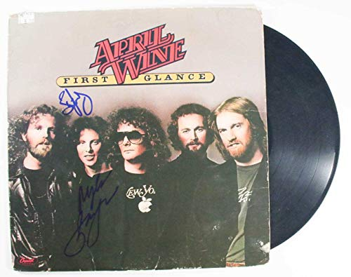 Myles Goodwyn & Brian Greenway Signed Autographed 'April Wine' Record Album - COA Matching Holograms