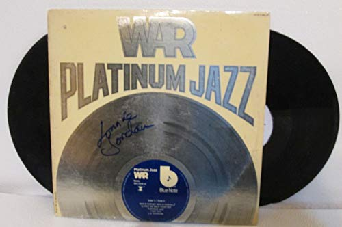 Lonnie Jordan of War Signed Autographed 'Platinum Jazz' Record Album - COA Matching Holograms