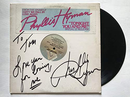 Phyllis Hyman (d. 1995) Signed Autographed 'Tonight You and Me' Record Album - COA Matching Holograms