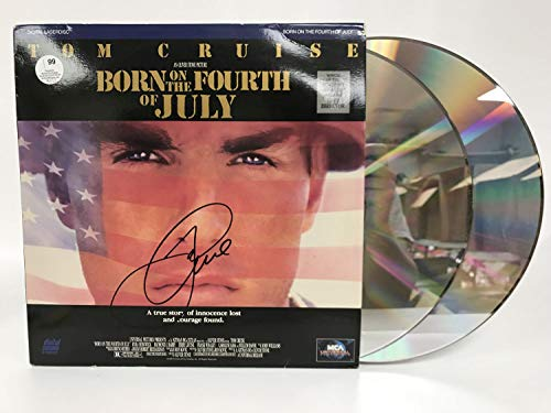 Tom Cruise Signed Autographed 'Born on the Fourth of July' LaserDisc Movie - COA Matching Holograms
