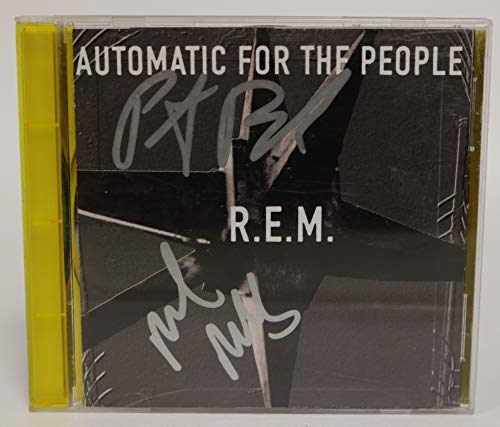 Mike Mills & Peter Buck Signed Autographed 'Automatic For the People' Music CD - COA Matching Holograms