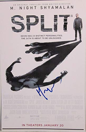 M. Night Shyamalan Signed Autographed 'Split' Glossy 11x17 Movie Poster - COA Matching Holograms