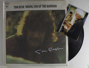 "Tom Rush Signed Autographed ""Wrong End Of The Rainbow"" Record Album - COA Matching Holograms"