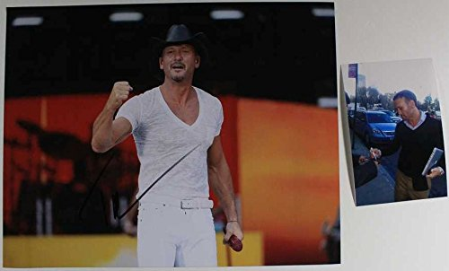 Tim McGraw Signed Autographed Color Glossy 11x14 Photo w/ Proof Photo