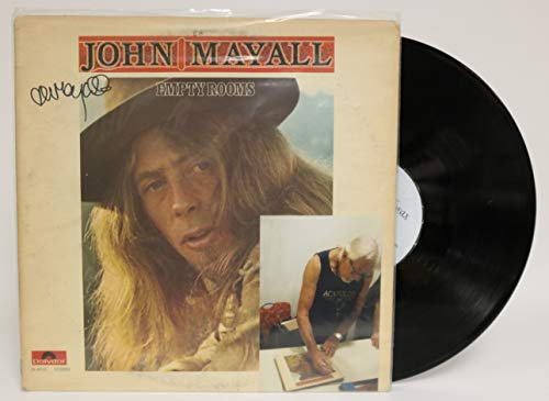 John Mayall Signed Autographed 'Empty Rooms' Record Album - COA Matching Holograms
