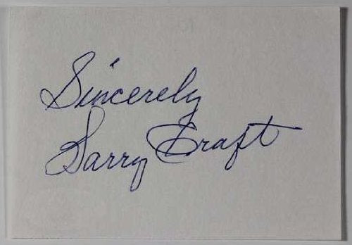 Harry Craft (1915 - 1995) Signed Autographed Vintage Signature Page (JSA Certified)