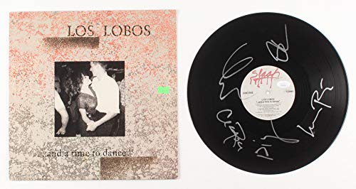 Los Lobos Band Signed Autographed 'And a Time to Dance' Record Album - PSA/DNA COA