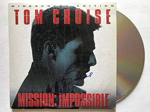 Tom Cruise Signed Autographed 'Mission Impossible' LaserDisc Movie - COA Matching Holograms