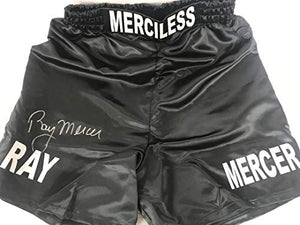 Ray Mercer Signed Autographed Black Boxing Trunks - JSA COA