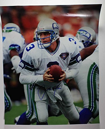 Rick Mirer Signed Autographed 16x20 Photo - Seattle Seahawks