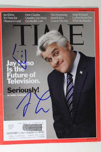 "Jay Leno Signed Autographed Complete ""Time"" Magazine - COA Matching Holograms"