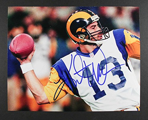 Kurt Warner Signed Autographed Glossy 11x14 Photo - St. Louis Rams