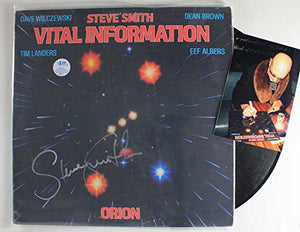 "Steve Smith Signed Autographed ""Vital Information"" Record Album - COA Matching Holograms"