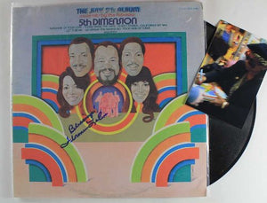 "Florence LaRue Signed Autographed ""The Fifth Dimension"" Record Album - COA Matching Holograms"