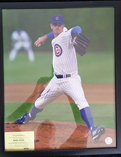 Mark Prior Signed Autographed Glossy 16x20 Photo (Mounted Memories COA) - Chicago Cubs