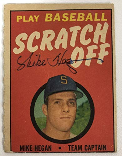 Mike Hegan Signed Autographed 1970 Topps Scratch Off Baseball Card - Milwaukee Brewers