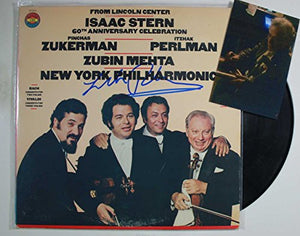 "Itzhak Perlman Signed Autographed ""New York Philharmonic"" Record Album - COA Matching Holograms"