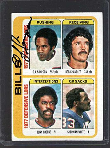 O.J. Simpson Signed Autographed 1979 Topps Leaders Football Card - Buffalo Bills