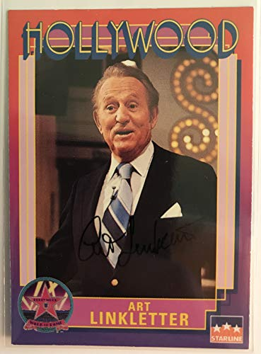Art Linkletter (d. 2010) Signed Autographed 1991 Starline Hollywood Walk of Fame Trading Card - COA Matching Holograms