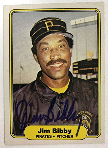 Jim Bibby Signed Autographed 1982 Donruss Baseball Card - Pittsburgh Pirates