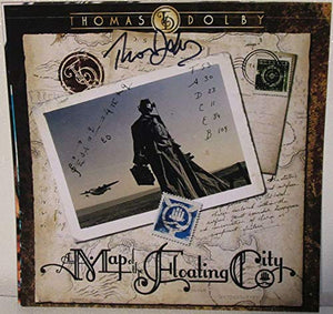 Thomas Dolby Signed Autographed 'Map of the Floating City' 12x12 Promo Photo - COA Matching Holograms