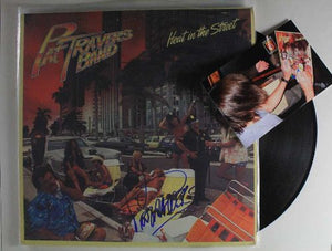 "Pat Travers Signed Autographed ""Heat in the Street"" Record Album - COA Matching Holograms"