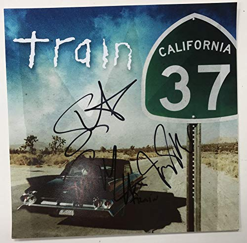 Train Band Signed Autographed 'California 37' 12x12 Promo Photo - COA Matching Holograms