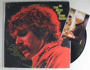 "Tom Rush Signed Autographed ""The Best Of"" Record Album - COA Matching Holograms"
