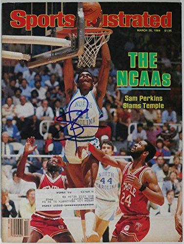 Sam Perkins Signed Autographed Complete 1984