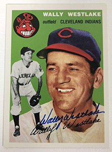 Wally Westlake Signed Autographed 1954 Topps Archives Baseball Card - Cleveland Indians