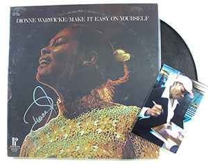 "Dionne Warwick Signed Autographed ""Make it Easy on Yourself"" Record Album - COA Matching Holograms"