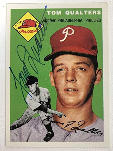 Tom Qualters Signed Autographed 1954 Topps Archives Baseball Card - Philadelphia Phillies