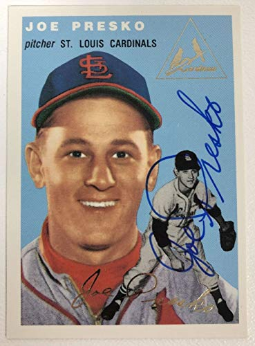 Joe Presko Signed Autographed 1954 Topps Archives Gold Baseball Card - St. Louis Cardinals