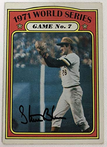 Steve Blass Signed Autographed 1972 Topps World Series Baseball Card - Pittsburgh Pirates