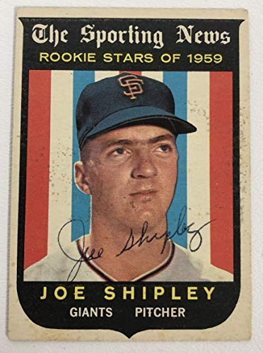 Joe Shipley Signed Autographed 1959 Topps Rookie Stars Baseball Card - San Francisco Giants