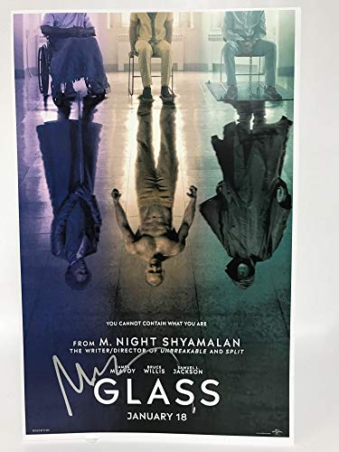 M. Night Shyamalan Signed Autographed 'Glass' Glossy 11x17 Movie Poster - COA Matching Holograms