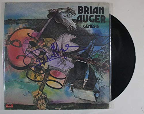 Brian Auger Signed Autographed 'Genesis' Record Album - COA Matching Holograms