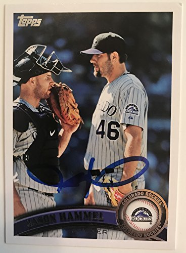 Jason Hammel Signed Autographed 2011 Topps Baseball Card - Colorado Rockies