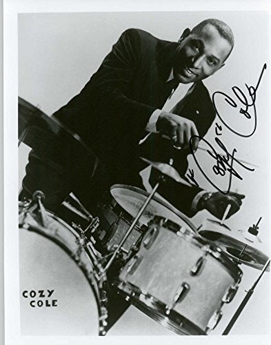 Cozy Cole (d. 1981) Signed Autographed Vintage Glossy 8x10 Photo - COA Matching Holograms