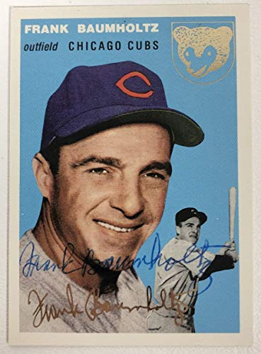 Frank Baumholtz Signed Autographed 1954 Topps Archives Gold Baseball Card - Chicago Cubs