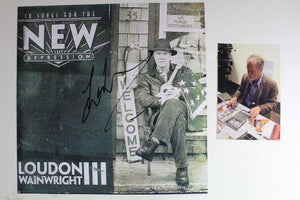 "Loudon Wainwright III Signed Autographed ""10 Songs For the New Depression"" 12x12 Promo Flat - COA Matching Holograms"