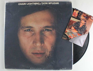 "Don McLean Signed Autographed ""Chain Lightning"" Record Album - COA Matching Holograms"