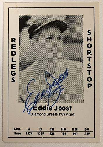 Eddie Joost Signed Autographed 1979 Diamond Greats Baseball Card - Cincinnati Reds