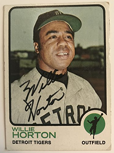 Willie Horton Signed Autographed 1973 Topps Baseball Card - Detroit Tigers