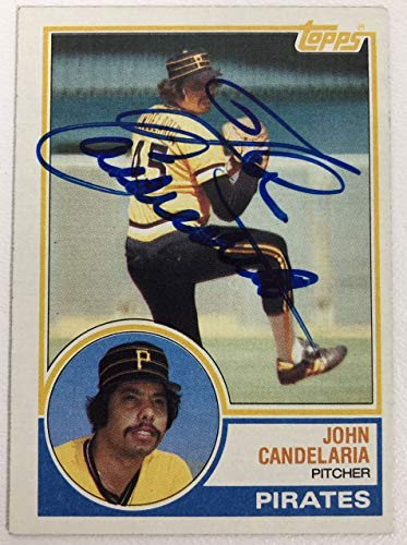 John Candelaria Signed Autographed 1983 Topps Baseball Card - Pittsburgh Pirates