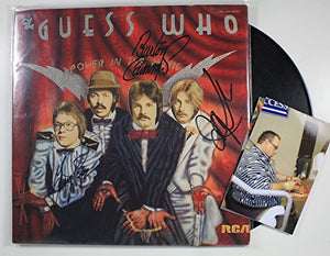 "The Guess Who Band Signed Autographed ""Power in the Music"" Record Album - COA Matching Holograms"