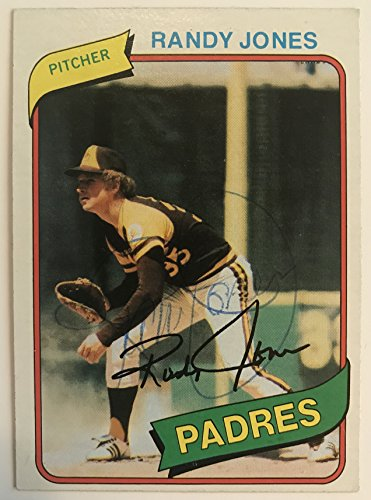 Randy Jones Signed Autographed 1980 Topps Baseball Card - San Diego Padres